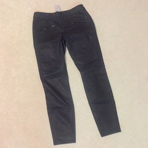 Ann Taylor Petite Coated Skinny Modern Fit Pants